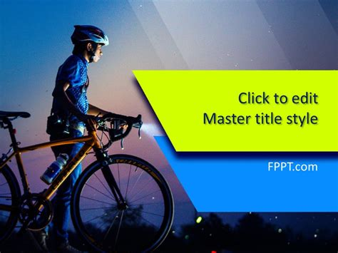Free Bicycle Powerpoint Template Free Powerpoint Templates Bicycle Ppt Templates Free