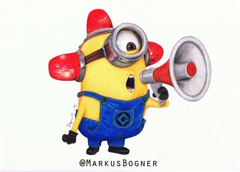 Pensil Minion minion bee do my colored pencil drawing by markusbogner on deviantart