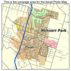 aerial photography map of rohnert park ca california