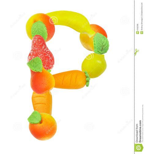 p fruits alphabet de fruit la lettre p image libre de droits