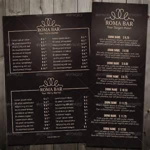 23 bar menu templates free sle exle format