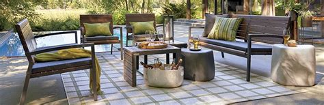 classic outdoor furniture rocha crate and barrel within
