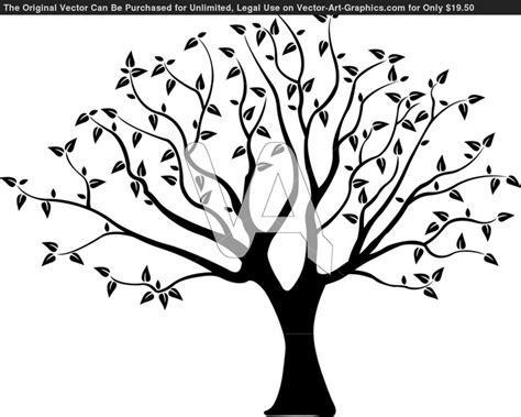 tree silhouette for wall tree templates pinterest