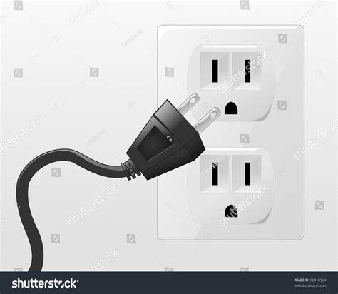 In A by Illustration Going Into Socket Stock Vector