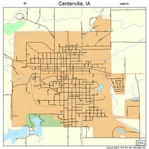 centerville map centerville iowa map 1912315