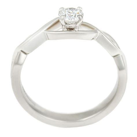 celtic inspired fairtrade 18 carat white gold and 0 30ct