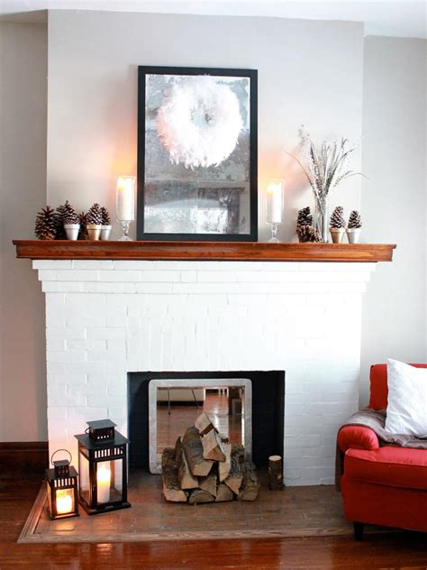 decorate your mantel for winter hgtv