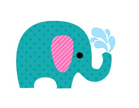 cute colored elephants clipart   fiesta  ladies