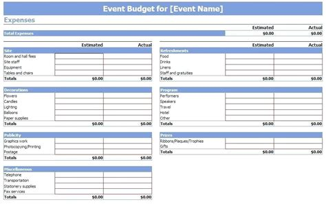 event expense report template event budget virtuart me