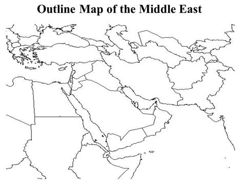 Africa And Middle East Outline Map by Middle East Map Blank My
