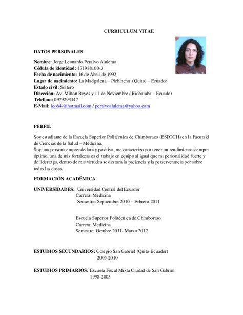 Plantilla De Curriculum Vitae Universitario Formato Curriculum Estudiante Universitario Hairstylegalleries