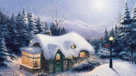 2560x1440 christmas wallpaper thomas kinkade winter wallpaper 58 images