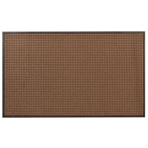 36 x 48 rug hometrax designs guzzler brown 36 in x 48 in rubber backed entrance mat 166s0034br the home