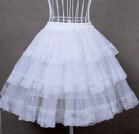 organza petticoat tutorial white cotton hard tulle lolita dress petticoat 19 99