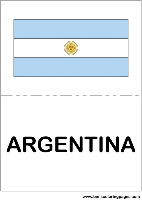argentina flag coloring pages