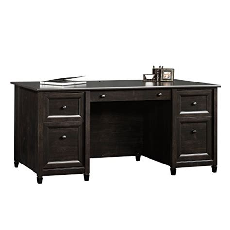 sauder edge water executive desk estate black finish sauder edge water executive desk estate black finish