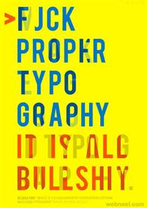 Typography Template 40 creative typography posters design exles for your inspiration