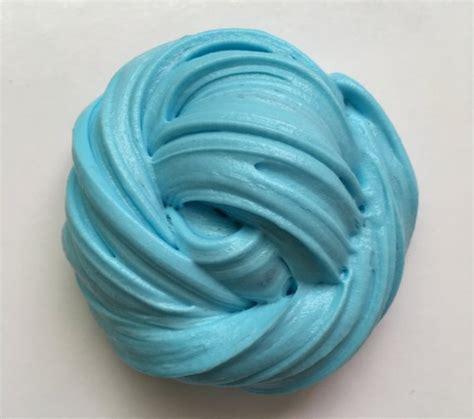 Blue Fluffy soft fluffy sky blue slime