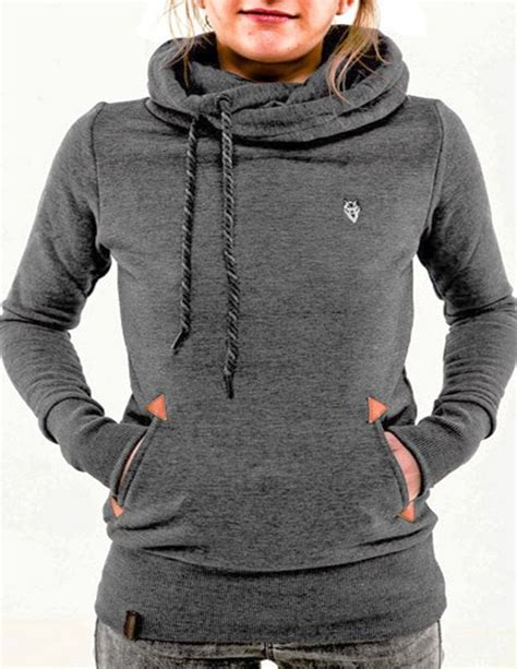 stylish hooded long sleeve printed pocket design hoodie new arrival women hoodies sweatshirt stylish hooded long