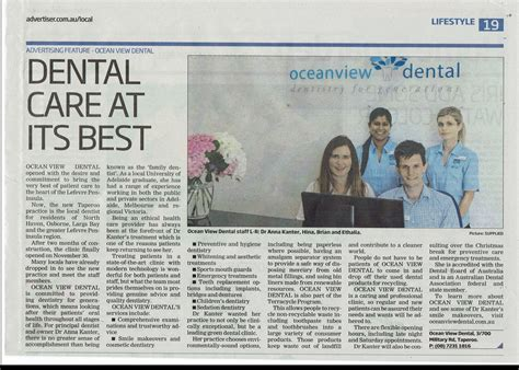 news articles from 2015 view articles from 2006 2007 2008 news ocean view dental western suburbs