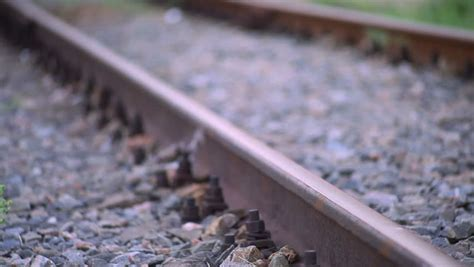 Railway Sleepers Hshire by Signal In Movement Stock Footage 542788