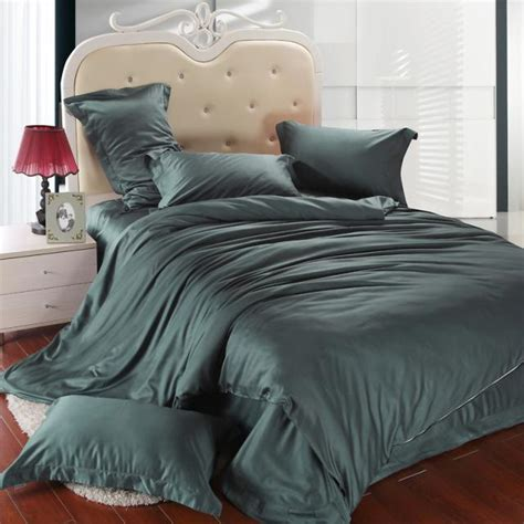 dark green bedding luxury dark green bedding set king size queen duvet cover bed in a bag double sheet linen quilt