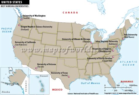 map of colleges in united states best nursing universities in the united states