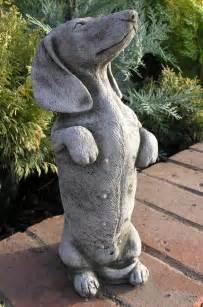 Cast Iron Patio Chiminea Stone Daschund Sausage Dog Statue Ornament 163 19 99