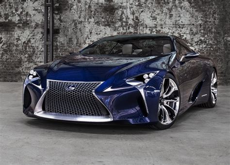 sporty lexus blue sport car garage lexus lf lc blue concept 2012