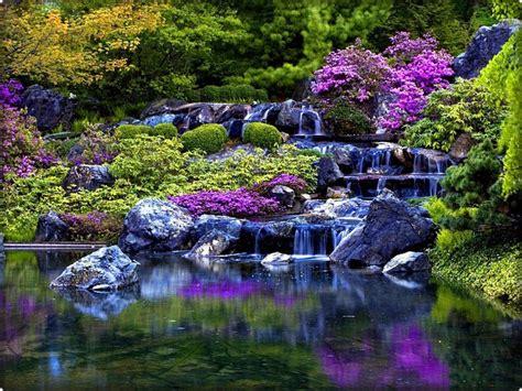 beautiful waterfalls with flowers beautiful flower gardens waterfalls kyprisnews