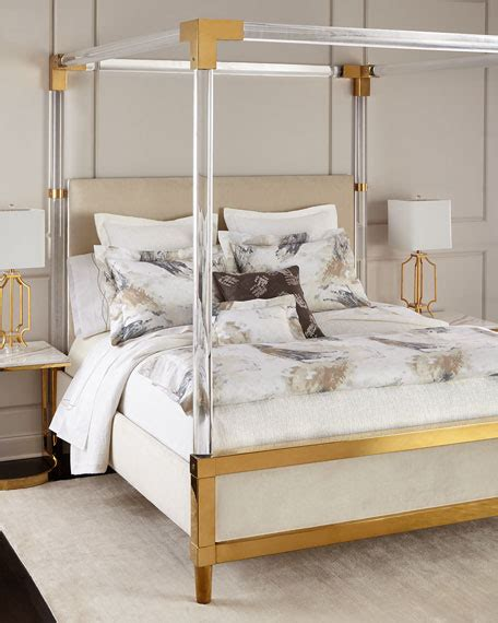 acrylic bedroom furniture bernhardt hayworth king bed bench