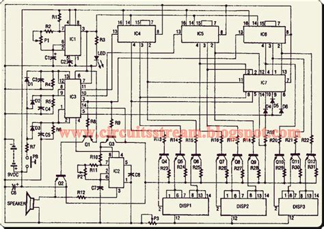 electronic diagrams and schematics digital electronic slot machine circuit diagram