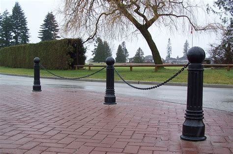 decorative bollards with chain a photo gallery collection of reliance foundry s