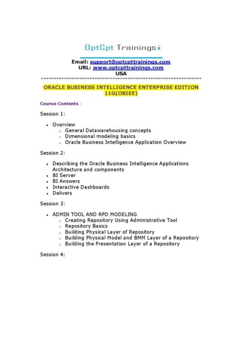 tutorial oracle business intelligence 11g learn oracle business intelligence enterprise edition