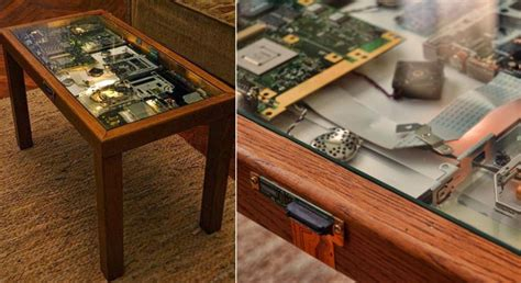 Diy Cyberpunk Coffee Table Made From Old Laptop Parts   diy cyberpunk coffee table made from old laptop parts