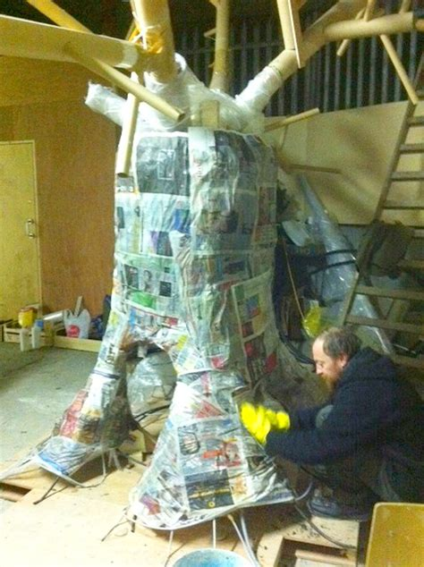 How To Make A Paper Mache Tree - a paper mache tree images