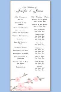 wedding program sle template wedding program templates free printable wedding program templates
