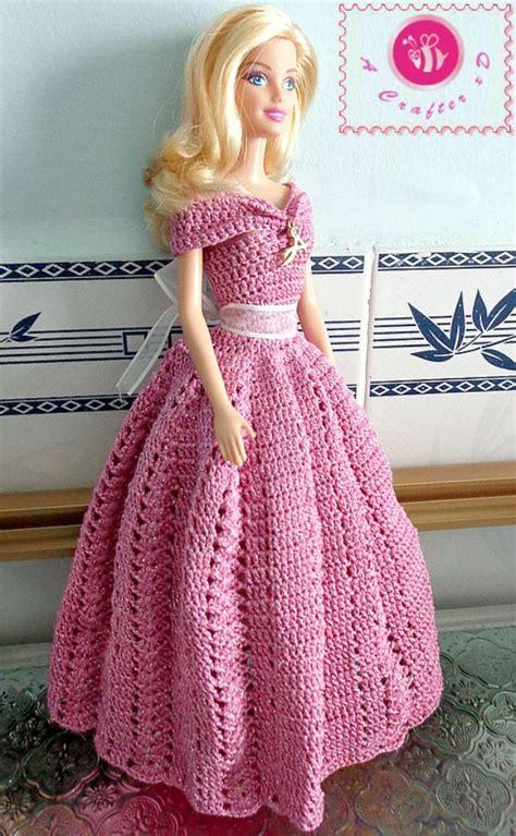 pattern crochet doll dress crochet barbie princess gown crochet doll clothes
