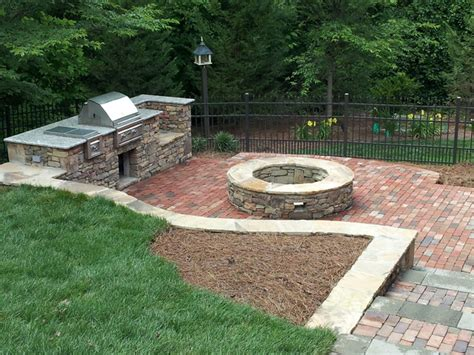 natural stone outdoor grill natural stone fire pit