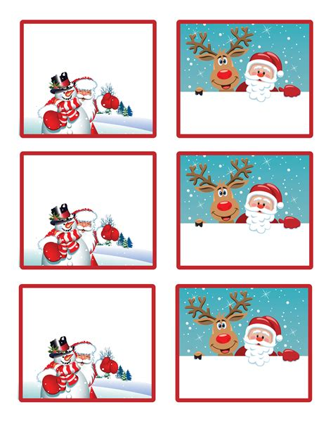large printable gift tags from santa 5 best images of large printable christmas gift tags