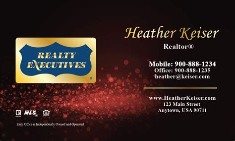 Realty Executives Business Cards Templates by Realty Executives Business Card Design 113062