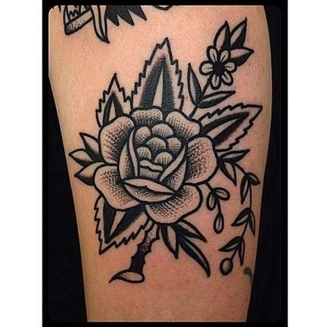 blackwork bold flower tattoo tattoos pinterest