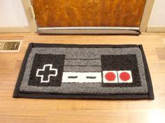 nintendo controller rug for the home on aged wood svelte and lights