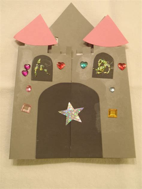 how to make a card castle castle card my kid craft