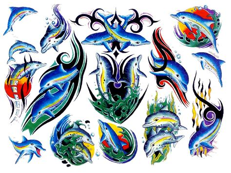 tattoo designs colored 33 dolphin designs and ideas