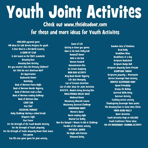 activity for youth group at church