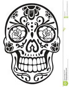 Day Of The Dead Calavera Outline by Skull Sugar Skull Royalty Free Stock Images Image 33575249