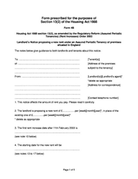 notice of increase of rent under regulated tenancy grl landlord