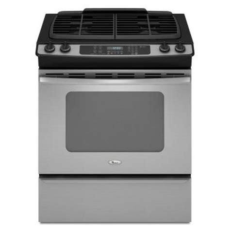 whirlpool gold 4 5 cu ft slide in gas range with self