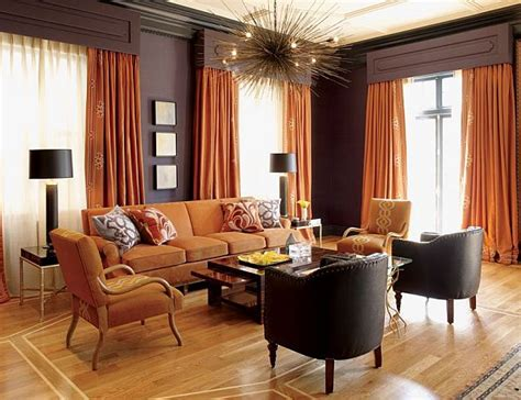 and orange living room living room interior design with orange color